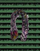 FLIRTATIOUS: Sciarpa stampata in lana e seta