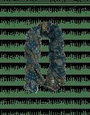 ORNAMENTAL: Sciarpa stampata in lana e seta