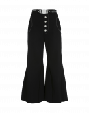 YEARN: Pantaloni a campana in Sensitive® nero