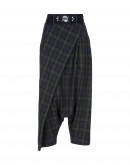 ENRAPTURE: Checked wrap-over side zip pants