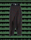 ENRAPTURE: Pantaloni scozzesi dalla linea avvolgente con zip laterale