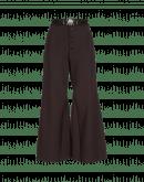 YEARN: Pantaloni a campana color borgogna