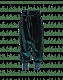 ZEALOUS: Pantaloni in velluto verde con cintura annodabile