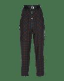 CLAMBER: Pantaloni a vita alta scozzesi