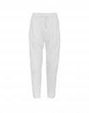 EAGER: Ivory multi-panel joggers with diagonal seams