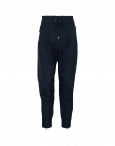 EAGER: Navy multi-panel joggers with diagonal seams