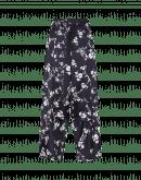 DIVERGE: Pantaloni ampi con motivo floreale bianco su fondo blu