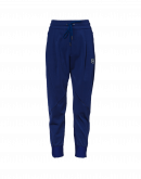 EAGER: Electric blue multi-panel joggers with diagonal seams