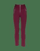 MINIMALIST: Pantaloni aderenti color borgogna
