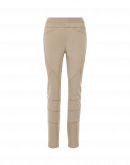 HI-LAY-OUT: Multi-seam leggings in taupe technical twill and rib