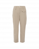 HYPER: Cropped pants in taupe tech stretch twill