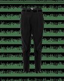 SWERVE: Pantalone nero affusolato in gessato metallico