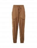 DAZE: Pantaloni jogger cargo in twill tecnico cammello