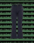 RARING: Pantaloni con cuciture curve in jersey blu navy