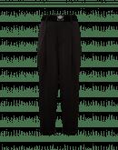 RATIONALE: Pantalone gamba dritta in twill elasticizzato nero