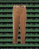 DECLARE: Pantaloni marroni a gamba dritta destrutturati