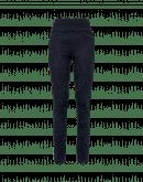 """HI-LAY-OUT: Pantaloni multi-cucitura e multi-pannello con stampa laser """"damascata"""" navy"""
