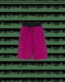 "UNDERSTAND: Cyclamen tech crêpe ""jogger"" shorts"