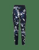 TIGHTROPE: Leggings multi-cuciture in stampa geometrica nera, blu navy e avorio