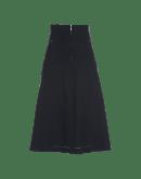 FOND-OF: Navy A-line skirt in bonded Sensitive®