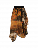 SPLENDID: Photo foliage printed satin skirt