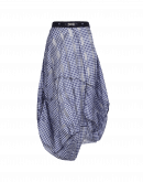 NOCTURNE: Navy and white tech gingham skirt