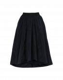 HYPNOTIC: Full tech taffeta skirt in navy