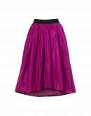 HYPNOTIC: Full tech taffeta skirt in fuchsia