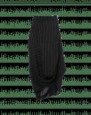 ENLIVEN: Multi-directional drape black pinstripe skirt