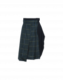 MULTIPLE: Hi waited half-kilt and drape skirt