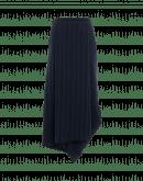UNDULATE: Nadelstreifenrock mit asymmetrischer Drapierung