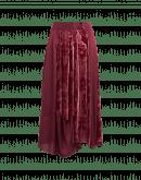 RHYME: Gonna a più pannelli in raso rosso bordeaux e velluto devoré