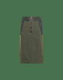 INITIATIVE: Gonna a tubino in stile militare in twill e taffetà verde bosco