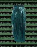 MAQUETTE: Gonna lunga in paillettes verde petrolio cangiante