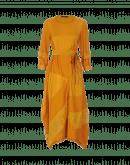 ILLUSION: Matt and shine satin and organza dress