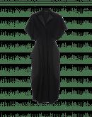 OPTIMIST: Abito lungo nero con gessatura in velluto