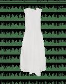 VERITY: Abito bianco in jersey e tessuto seersucker Vichy