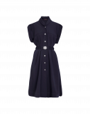 UNTOLD: Navy tech twill short sleeve dress