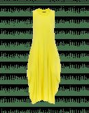 FAVOUR: Abito giallo con scollatura quadrata e drappeggio