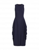 "AT-LENGTH: Navy blue Sensitive® ""balloon"" dress"