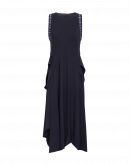 """ACCENTUATE: Sleeveless dress with full """"bustle"""" back"""