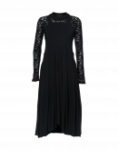 MESMERIZE: Black Sensitive® dress with tech lace yoke and sleeves