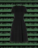 """LOGIC: Short sleeve dress in technical """"matelassé"""" jersey"""