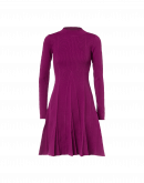 FLAIR: Short knitted dress with flappy skirt