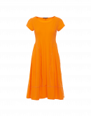 SUBLIME: Short sleeve dress in orange technical jersey