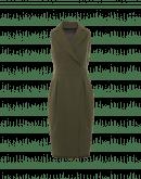 TURNOUT: Tubino verde oliva con dettaglio in stile giacca