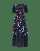 "MESMERIZE: Short sleeve dress in ""cubist"" print jersey"