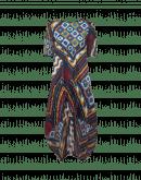 SENSATIONAL: Abito manica corta stampa patchwork multicolore
