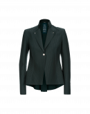 AD-LIB: Winter green single breasted laser cut jacket