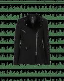 DEPICT: Zip front jacket with tech-fur revers